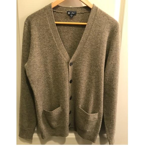 J Crew Sweaters J Crew Mens Cashmere Cardigan Beige Size S Poshmark